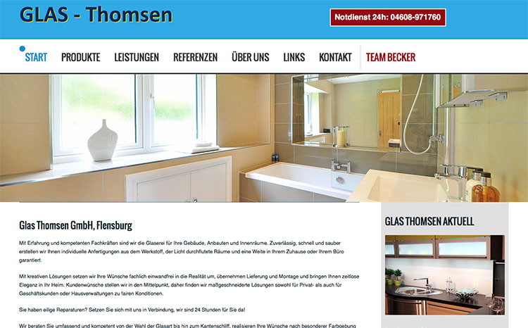 Glas Thomsen - Glaserei in Flensburg
