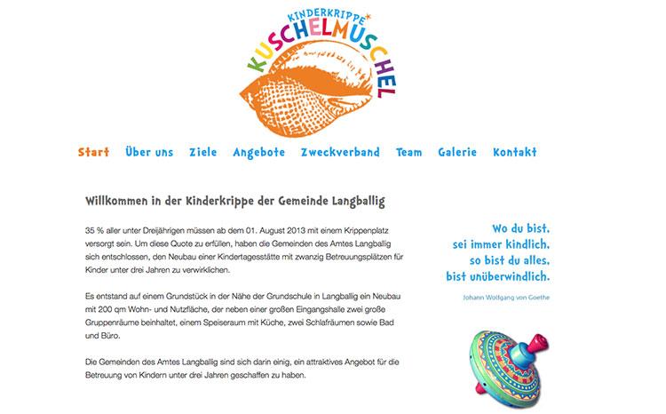 Kinderkrippe Kuschel Muschel, Langballig