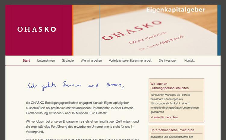 Ohasko - Unternehmerische Investoren